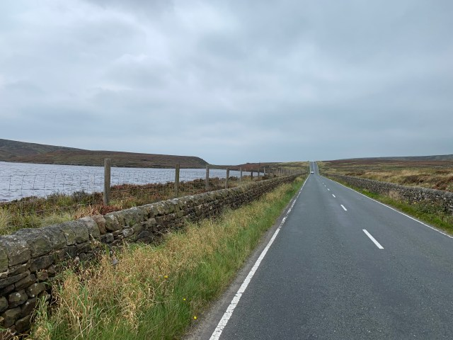 Passing one of the many reservoirs