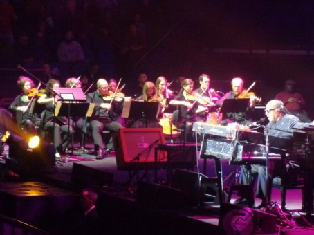 20-plus musicians joined Wonder on stage at the Target Center, March 29.