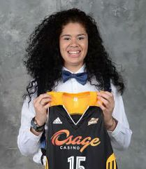 The number two overall pick Amanda Zahui B of the Tulsa Shock poses for a portrait during the 2015 WNBA Draft Presented By State Farm..