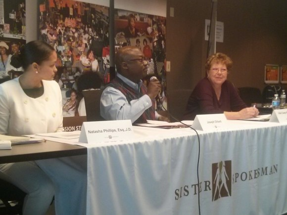 Panelists  (l-r): Natasha Phillips of Stinson Leonard Street, Financial Advisor Joseph Dillard, and Vikki Casey-Steward of AARP