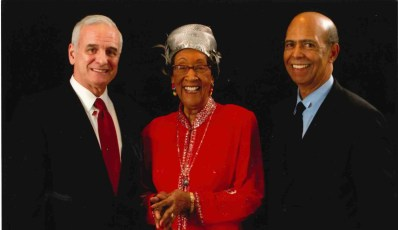 (l-r) Governor Dayton, Dr. Hattie Hendrieth-Smith and United Negro College Fund President and CEO, Dr. Michael L. Lomax.