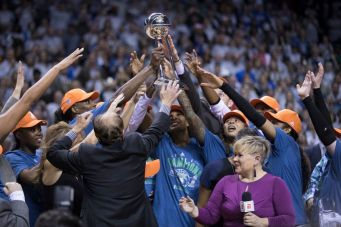The Lynx celebrate their fourth title in seven seasons