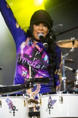 Sheila E. on the drums