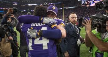 Vikings celebrating the win