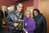(l-r) Anthony Scott; Norma Williams, former MSR publisher; and Chaunda Scott
