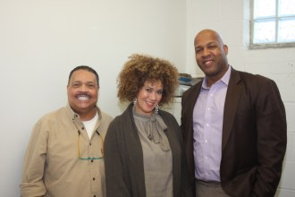 ​(l-r)​ Dr. Charles Crutchfield, III, Nicole Pillow and Eric Walker