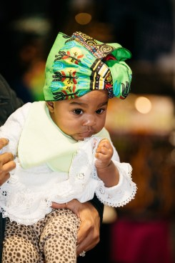 Assata Armstrong, one of Sister Spokesman's youngest attendees