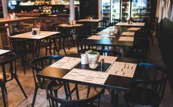 table in vintage restaurant