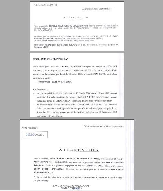 Nexthope Ranarison est le seul signataire des 70 virements bancaires et des comptes bancaires de CONNECTIC - Les 76 virements internationaux de1.047.060 euros que RANARISON Tsilavo considèrent comme illicites ont une contre partie et les 76 OVs ont été signés par le plaignant lui-même : la preuve complète est ici !
