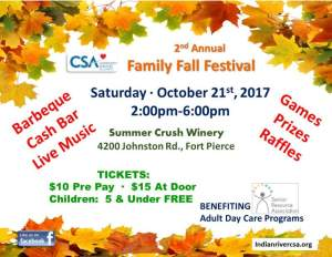 Family Fall Festival - benefit for Senior Resource Association