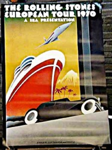Rolling Stones EuropeanTour1970 Poster