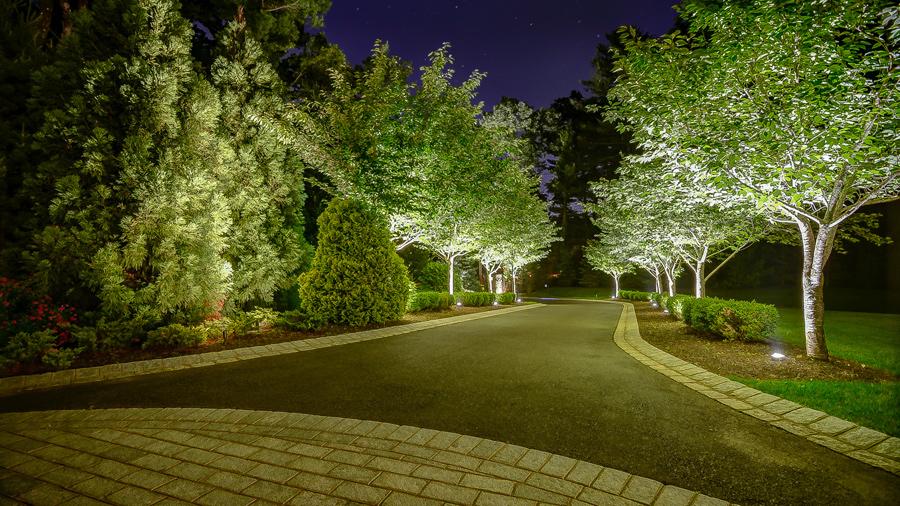 Elegant Landscaping Stone And Lighting Harding Township