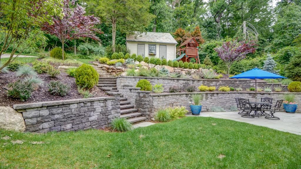 Landscaping Steeply Sloped Yard, Montclair, NJ - Sponzilli ... on Sloped Backyard Design id=62225