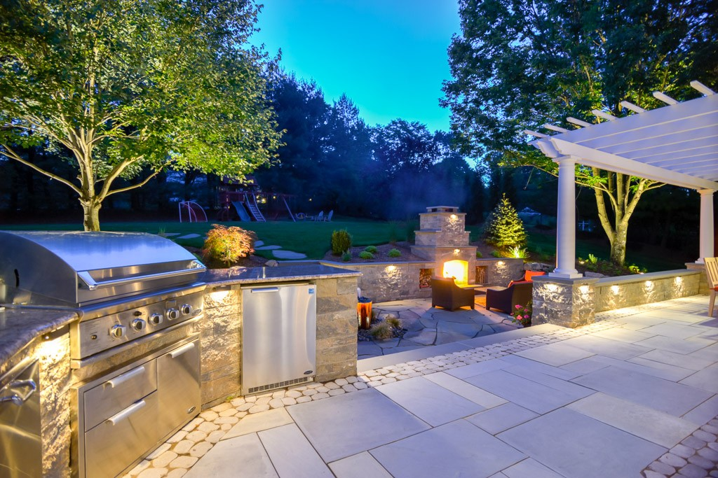 Residential Outdoor Living Space, Morristown, NJ ... on Outdoor Living And Landscapes id=24879