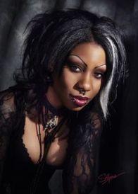 black goth woman