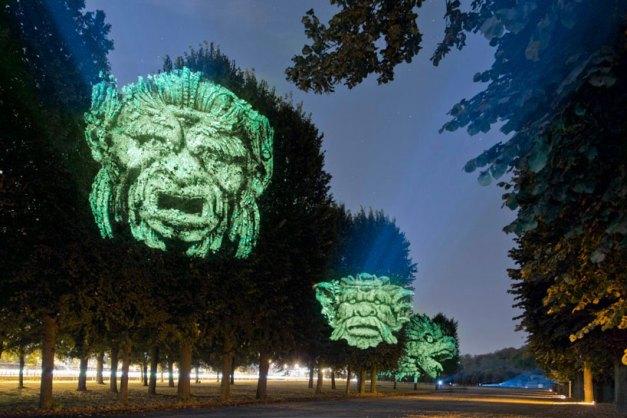 Clement Briend's projected gargoyles