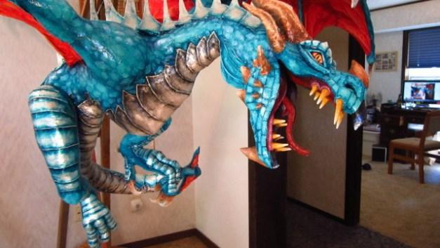 Cindy's Paper Mache Dragon