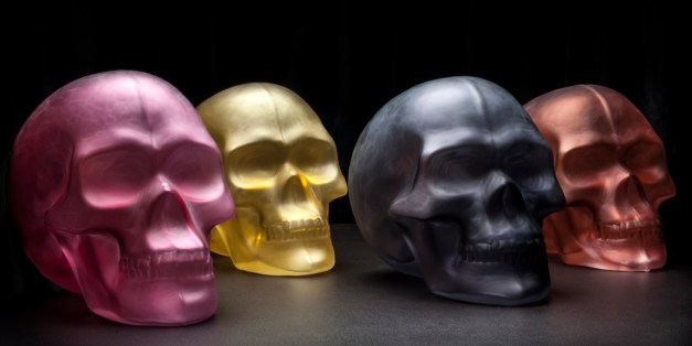 Skull Lamps by Thomas Segaud