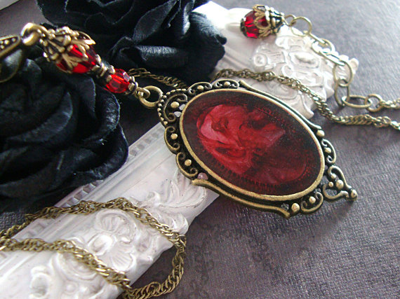 Blood Swirl Necklace by Ardent Hearts