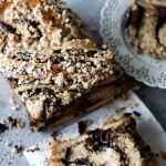 Chocolate Babka | The contrast between the layers of bread and the sticky, delicious swirls of black cocoa, chocolate chips, and cashew nuts make this babka irresistible – It's difficult to stop at one slice!