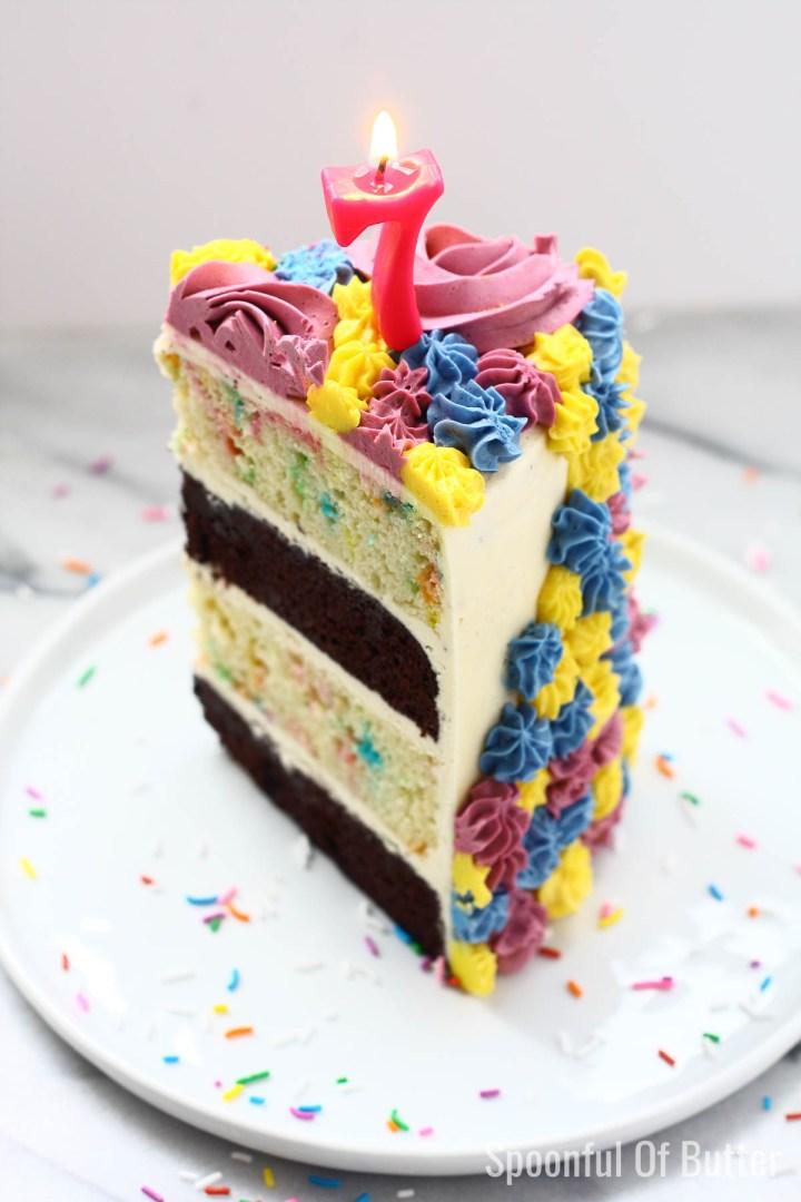 Amazing A Unicorn Birthday Cake Spoonful Of Butter Personalised Birthday Cards Vishlily Jamesorg