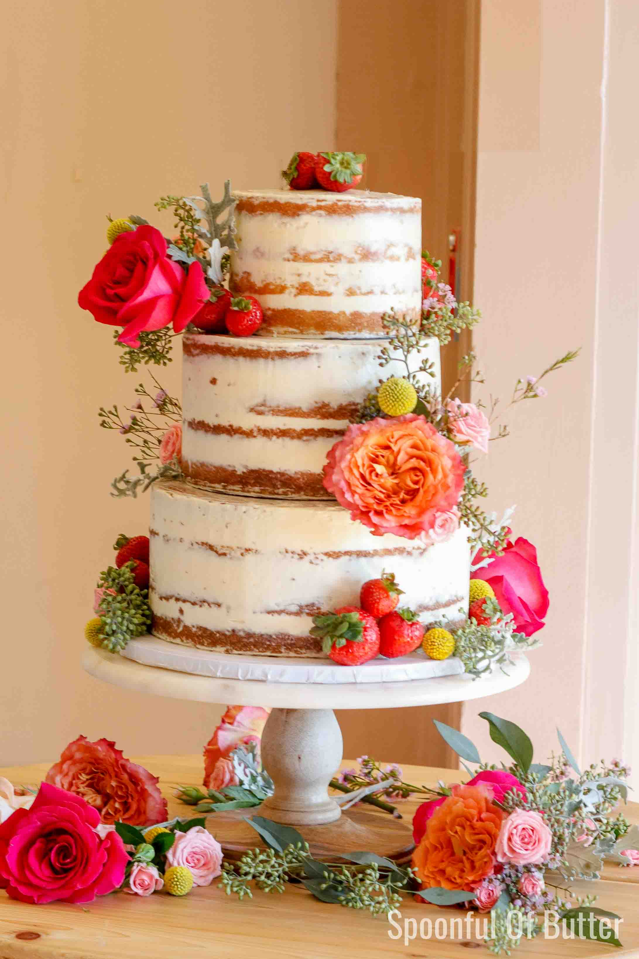 Diy Wedding Cake Spoonful Of Butter