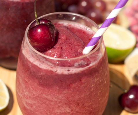 Heart Healthy Cherry Vanilla Wine Slushy