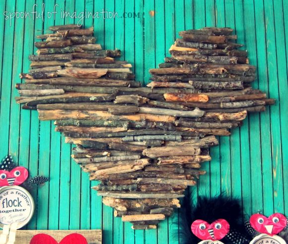 wood stick heart