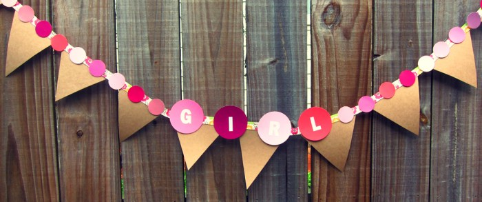 paint chip baby shower banner