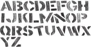 stencil-alphabet