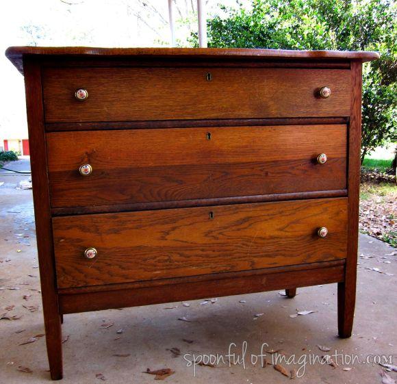 old dresser before