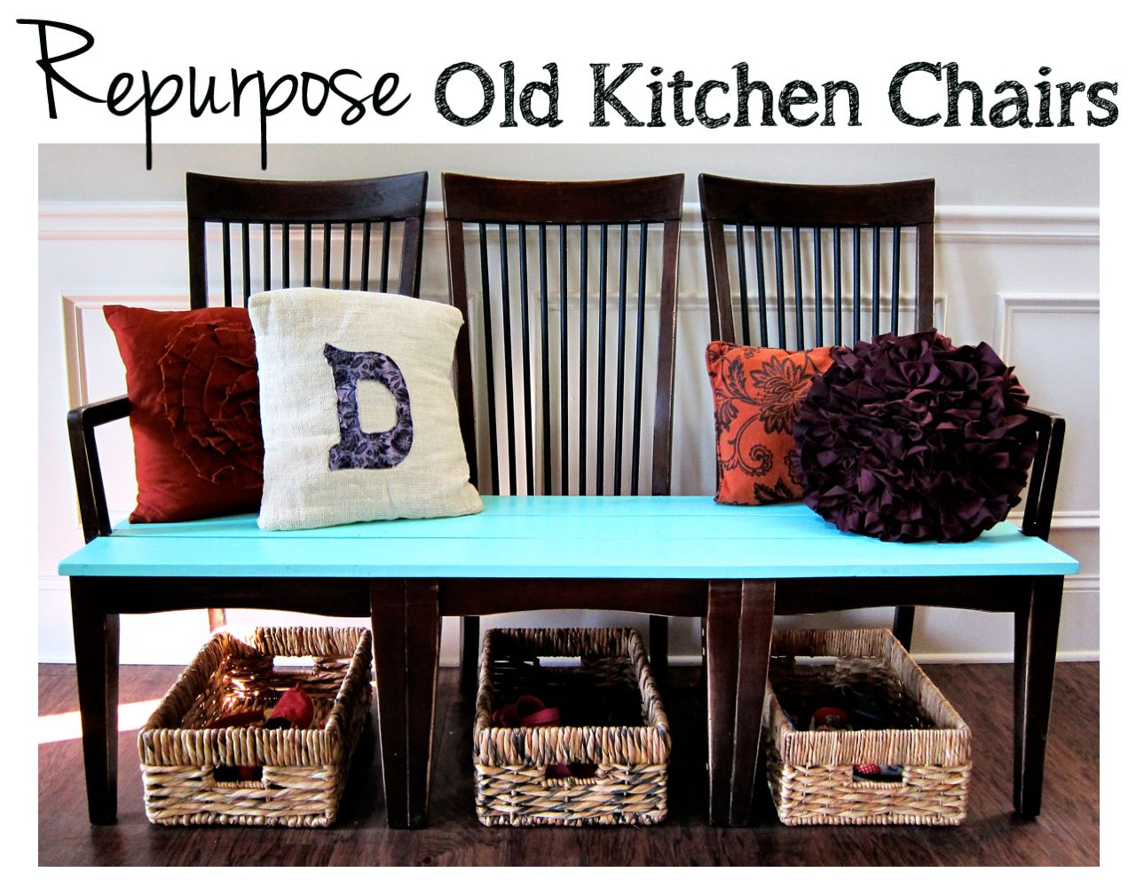 Repurpose Old Kitchen Chairs Spoonful Of Imagination