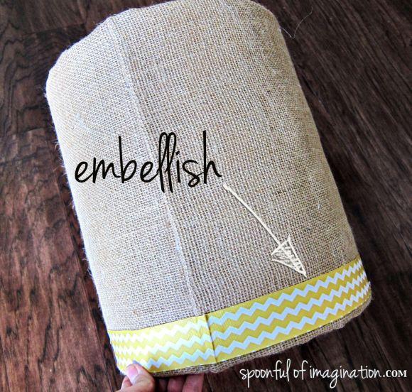 embellish a lampshade