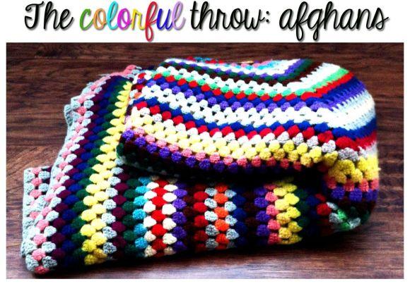 colorful afghan throw blanket