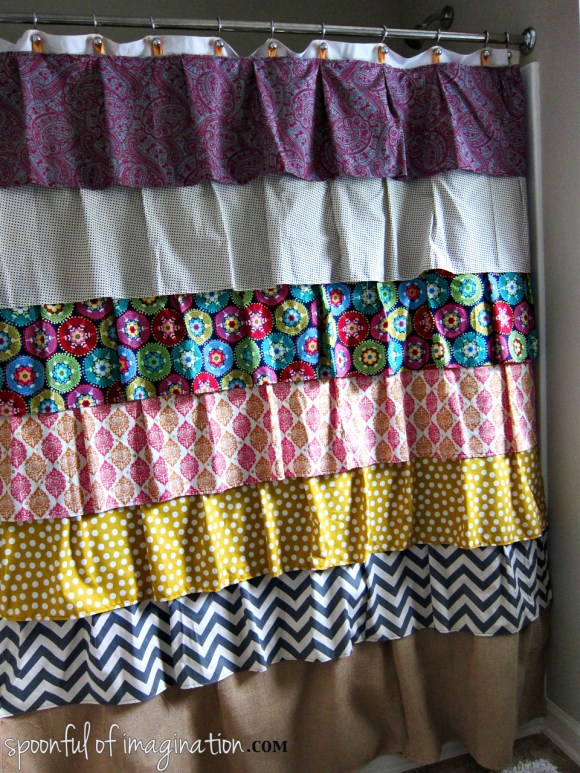 homemade shower curtain