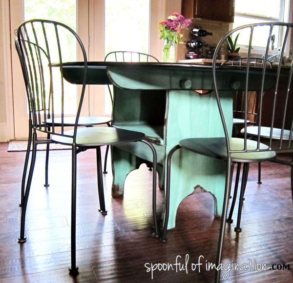 Kitchen Table Makeover - Spoonful of Imagination