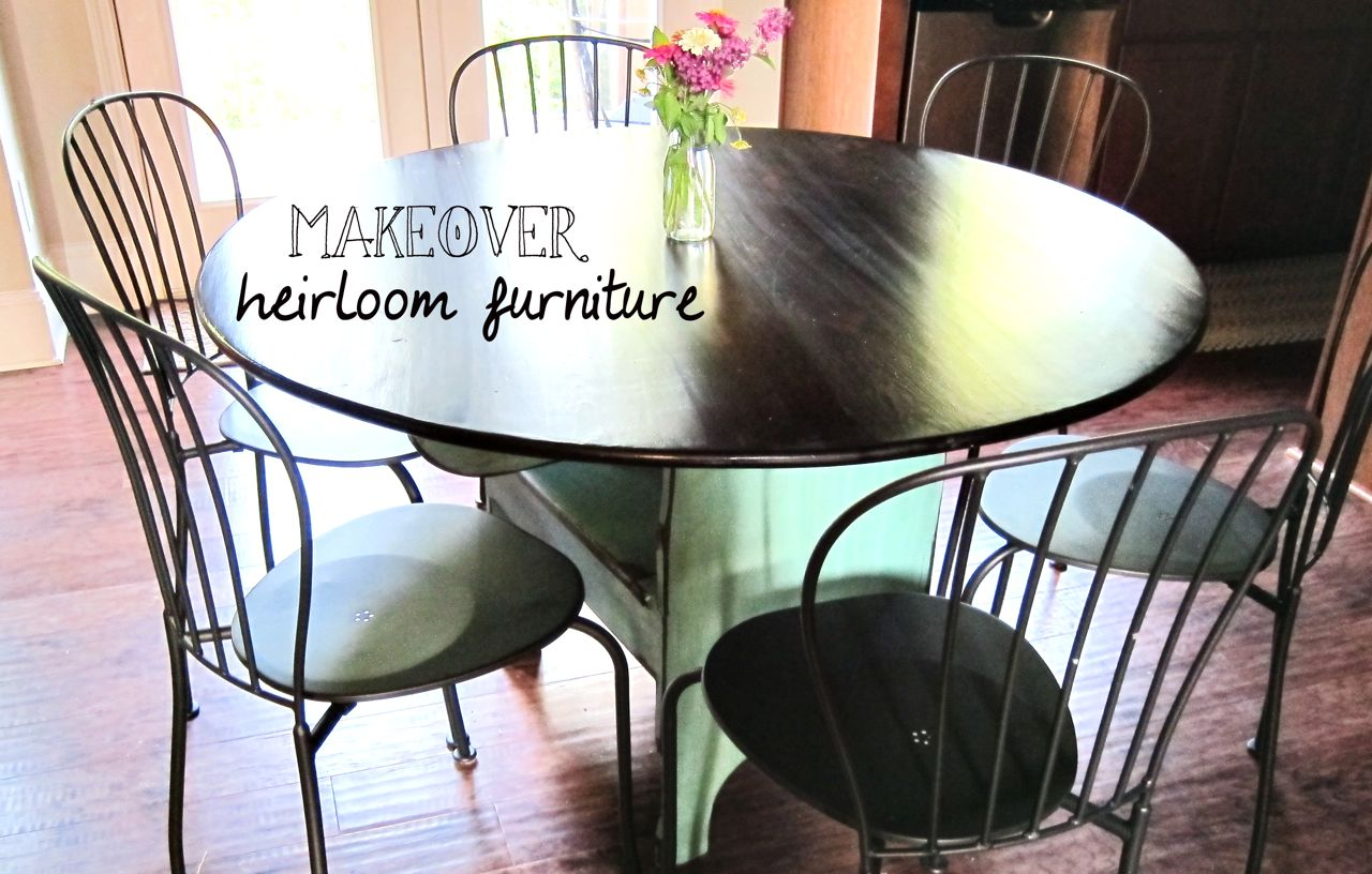 Kitchen Table Makeover Spoonful Of Imagination