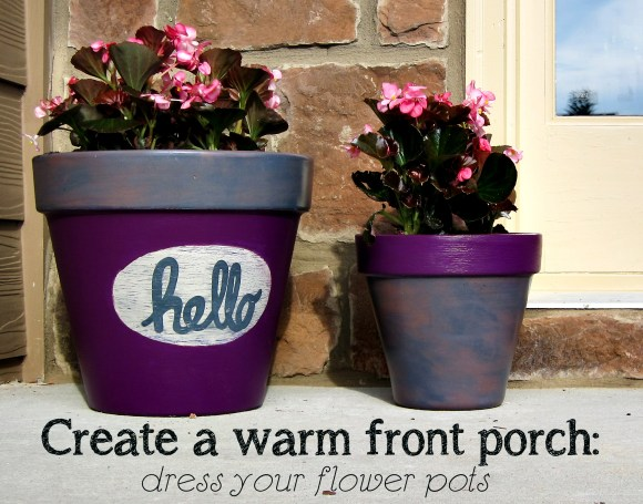 decorate flower pots