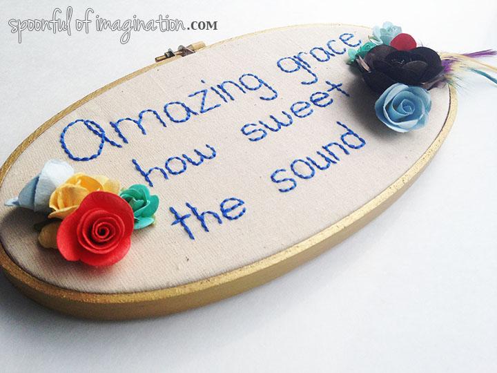 amazing grace_embroidery_hoop