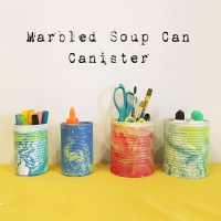 Marbled Soup Can Canister Tutorial