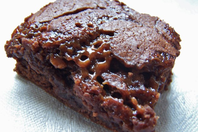 Caramelized Brownie ~ This is what happens when you put heavy caramel ON your brownies and it sinks INTO your brownies!