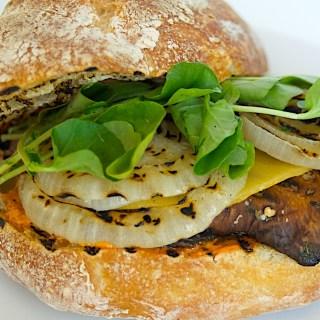 Grilled Portobello Burgers with Piquillo Aioli