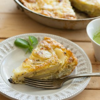 Rosemary Tortilla Española with Watercress Sauce