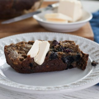 Blueberry Buckwheat Banana Bread (gf, v)