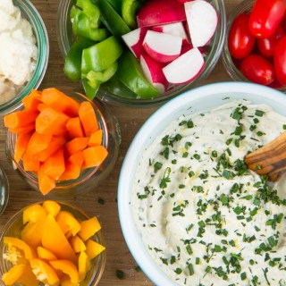 Lemon-Herb Cashew Sour Cream Dip (v, gf)