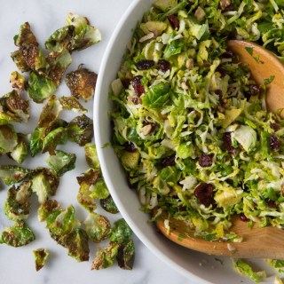 Brussels Sprouts Salad with Cranberries and Toasted Walnuts