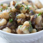 Creamy Vegan Mushroom Sauce with Gnocchi