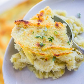 Vegan Garlic Herb-Scented Mashed Potatoes