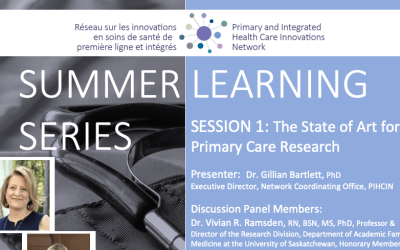 Summer Learning Series | Session 1: The State of Art for Primary Care Research