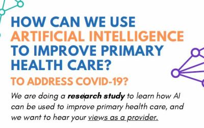 How can we use AI to improve primary health care? To address COVID-19? Opportunity to participate in a study